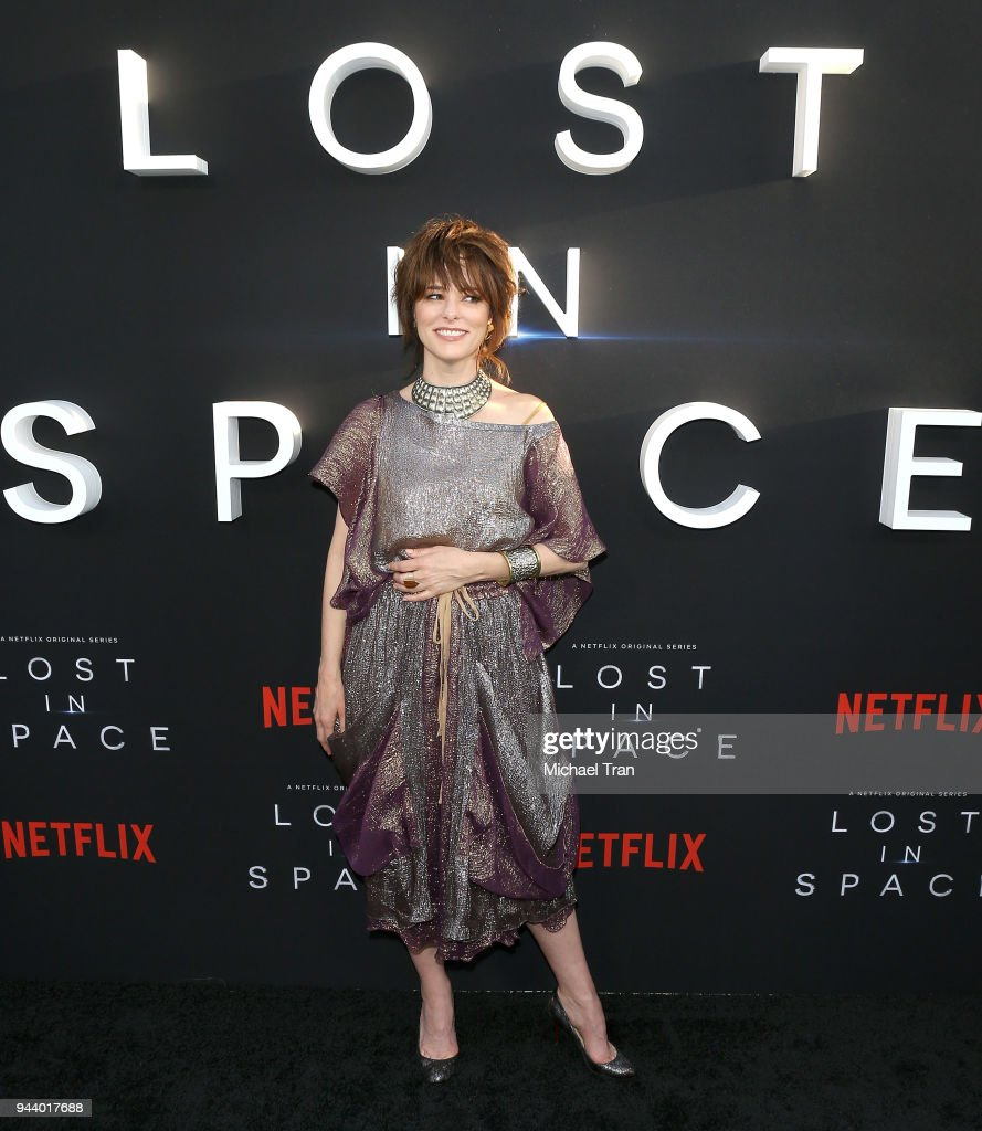 Parker Posey arrives to the Los Angeles premiere of Netflix's 'Lost In Space' Season 1 held at The Cinerama Dome on April 9, 2018 in Los Angeles, California.