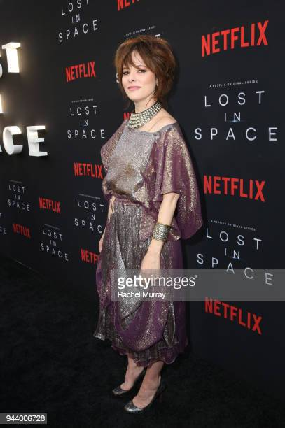 Parker Posey attends Netflix's 'Lost In Space' Los Angeles premiere on April 9 2018 in Los Angeles California