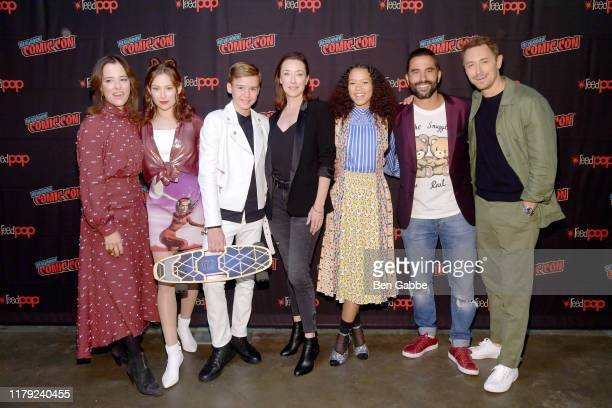 Parker Posey, Mina Sundwall, Maxwell Jenkins, Molly Parker, Taylor Russell, Ignacio Serricchio, and Toby Stevens attend the Netflix Presents: Lost in...