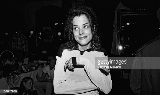 Parker Posey poses for a photo at a party for the film 'Brassed Off' in May 1997 in New York City New York