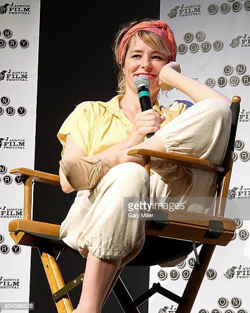 Parker Posey speaks about her experiences working on 'Waiting For Guffman' at an Austin Film Festival screening of the film at Bullock Texas State...