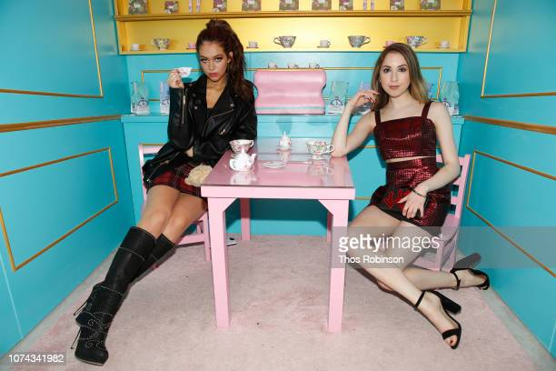 Parker Winston and Carrie Berk attend Carrie Berk Carrie's Chronicles Relaunch at Winky Lux on December 17 2018 in New York City