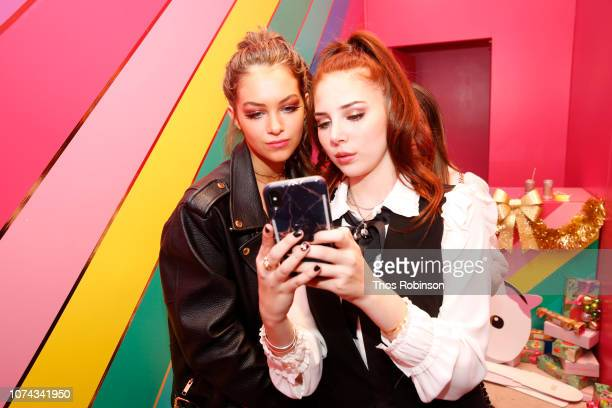 Parker Winston and Chloe Jane attend Carrie Berk Carrie's Chronicles Relaunch at Winky Lux on December 17 2018 in New York City