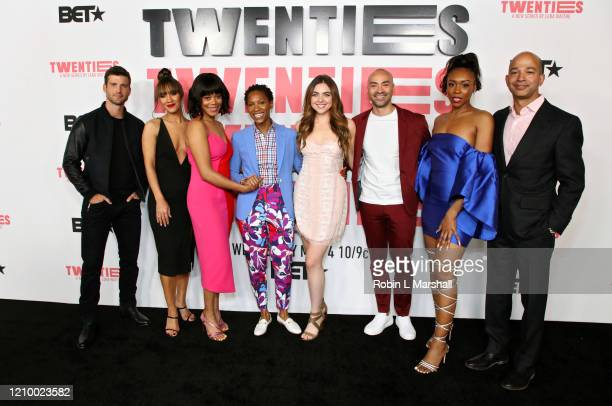 Parker Young Sophina Brown Christina Elmore Jonica T Gibbs Madeleine Byrne Jevon McFerrin Gabrielle Graham and Scott Mills attend the premiere of...