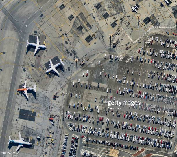 Parking airplanes, Adelaide Airport, South Australia