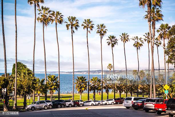 parking along the beach in la jolla, california, usa - la jolla stock pictures, royalty-free photos & images