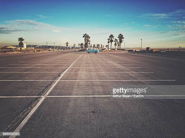 Parking Area At Huntington State Beach Against Sky