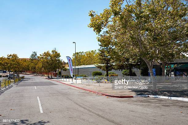 Parking area at the Shoreline Amphitheatre a popular concert venue in the Silicon Valley town of Mountain View California August 24 2016