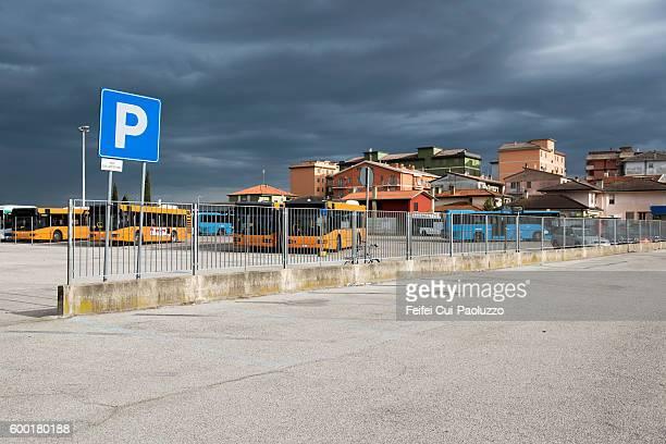 Parking at Chioggia of Veneto region in Italy