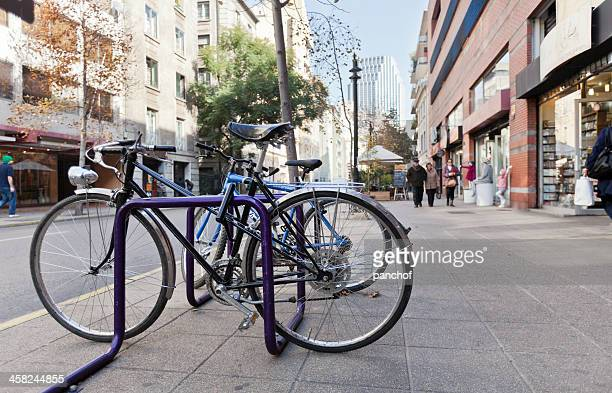 parking bicycle - bicycle parking station stock photos and pictures