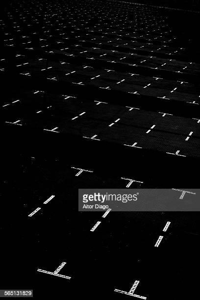 Parking. Black&white. Berlin, Germany.