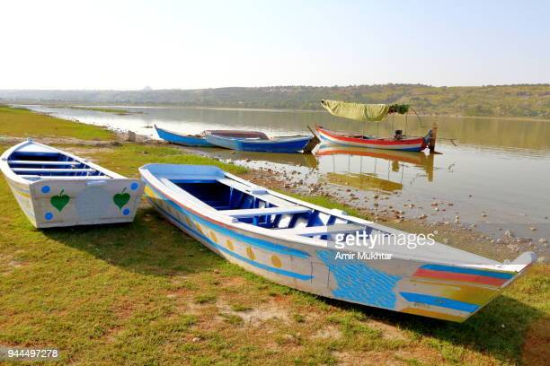 parking boats in the lake - amir mukhtar stock photos and pictures