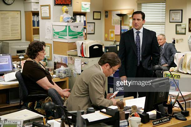 THE OFFICE Parking Episode 4014 Airdate Pictured Phyllis Smith as Phyllis Lapin Rainn Wilson as Dwight Schrute Steve Carell as Michael Scott