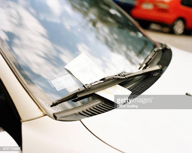 Parking fine on a car