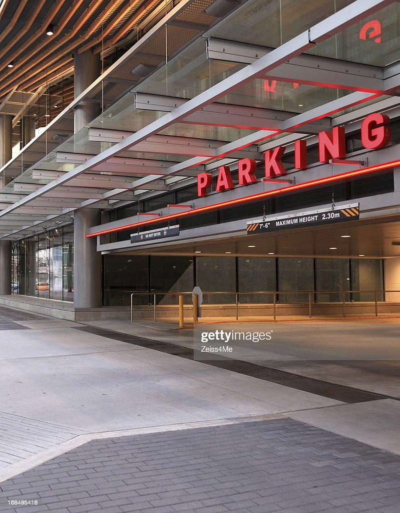 Parking Garage With Modern High Tech Look Stock Photo