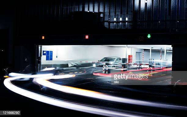 Parking garage's exit - blurred motion