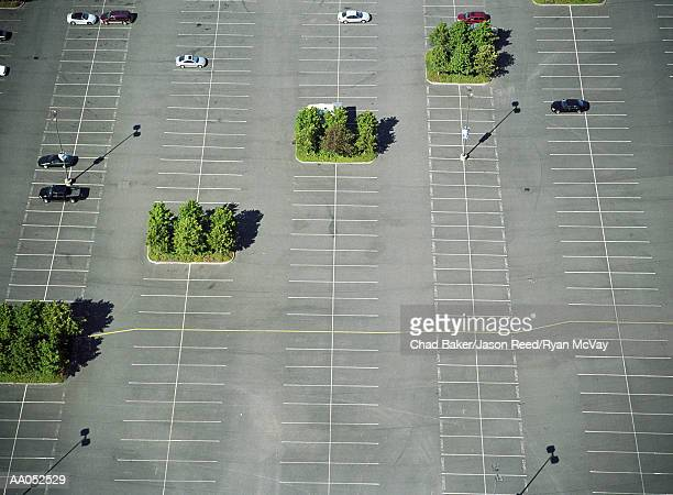 Parking lot, aerial view