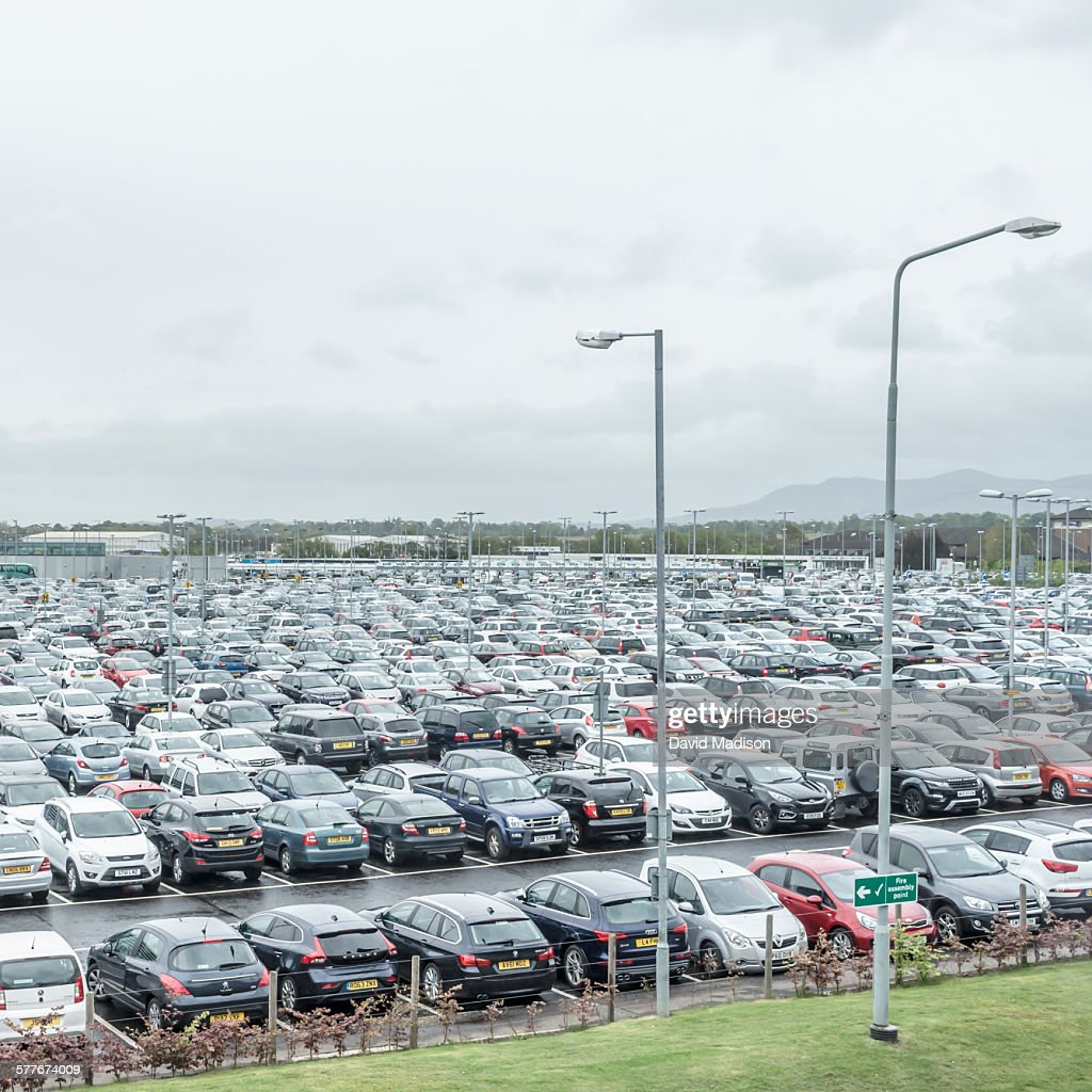 Parking Lot At Edinburgh Airport High Res Stock Photo Getty Images