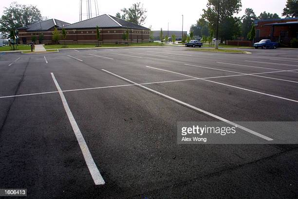 A parking lot at Fort Lee Military Base seen August 2 2001 in Hopewell Va The FBI discounted an anonymous tip to an Internet site alleging that...