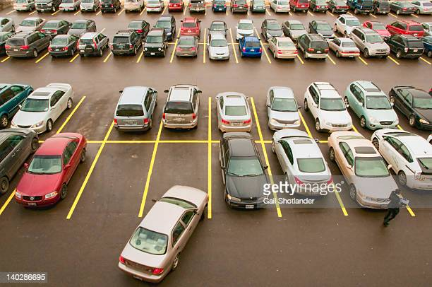 parking lot full with cars - car park stock pictures, royalty-free photos & images