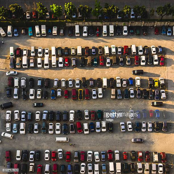 Parking lot in Metro Manila, Philippines