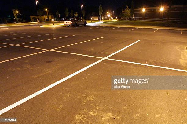 A parking lot is shown at Fort Lee Military Base August 1 2001 in Hopewell Va Police investigating the disappearance of Chandra Levy said they would...