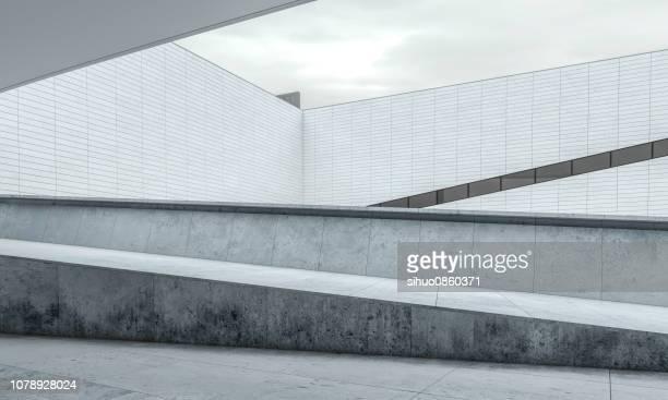 parking lot modern concrete background stage - architettura foto e immagini stock