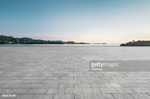 parking lot - paving stone stock pictures, royalty-free photos & images