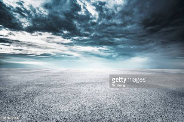 parking lot - moody sky stock pictures, royalty-free photos & images
