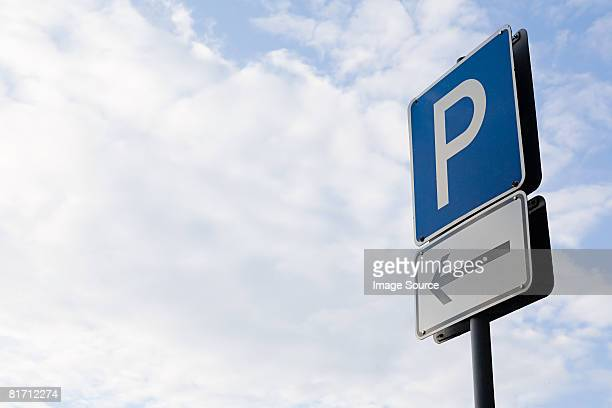 parking lot sign - parking sign stock photos and pictures