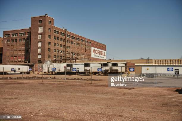 A parking lot stands empty outside a closed Smithfield Foods Inc plant in Sioux Falls South Dakota US on Wednesday April 15 2020 South Dakota...