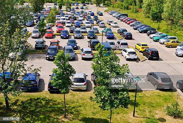 parking lot with cars - audi a4 stock photos and pictures