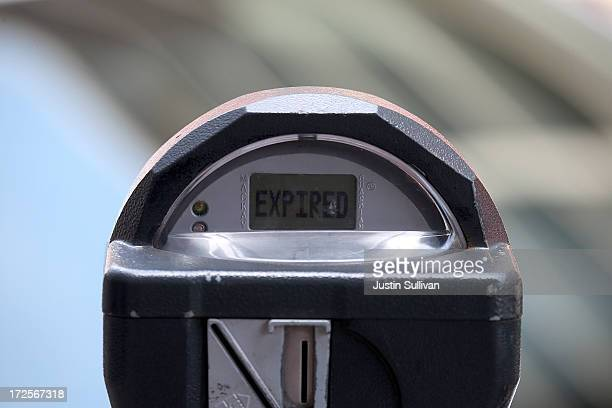 A parking meter displays the word expired on July 3 2013 in San Francisco California San Francisco's parking ticket fees became the highest in the...