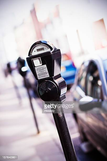 parking meter in london - parking meter stock photos and pictures