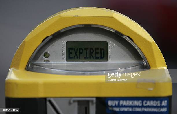 A parking meter is shown as expired on January 21 2011 in San Francisco California In an effort to eliminate a projected $212 million budget deficit...