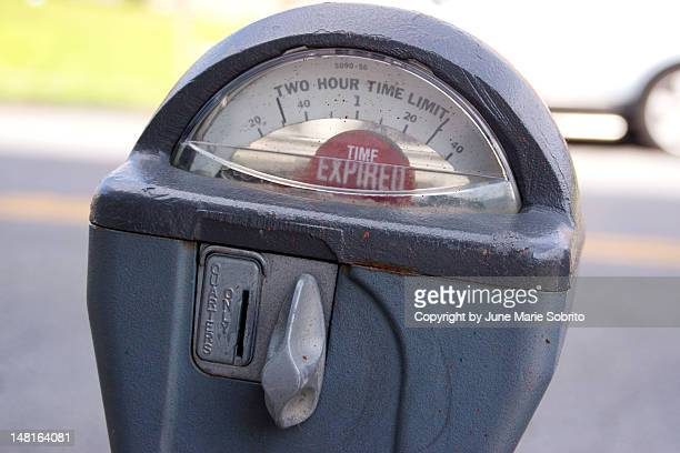 Parking meter with time expired