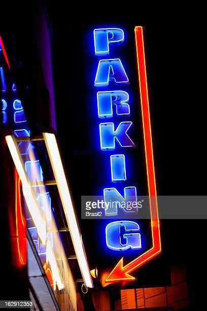 Parking neon sign