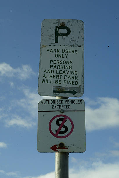 a parking restrictions sign around albert park lake 15 august 2005