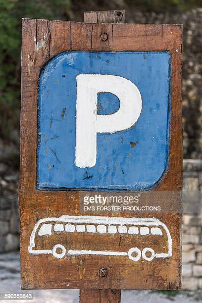 Parking sign for buses