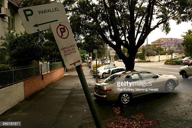 Parking signs that were installed over the weekend in Johnson Street Annandale changing the parking conditions from angle parking to parallel parking...