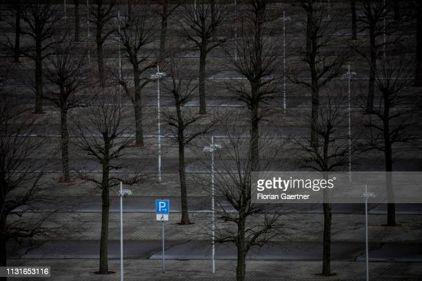 A parking space for disabled people is pictured on March 19 2019 in Schkeuditz Germany