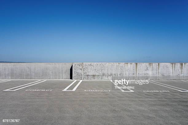 Parking spaces on a roof