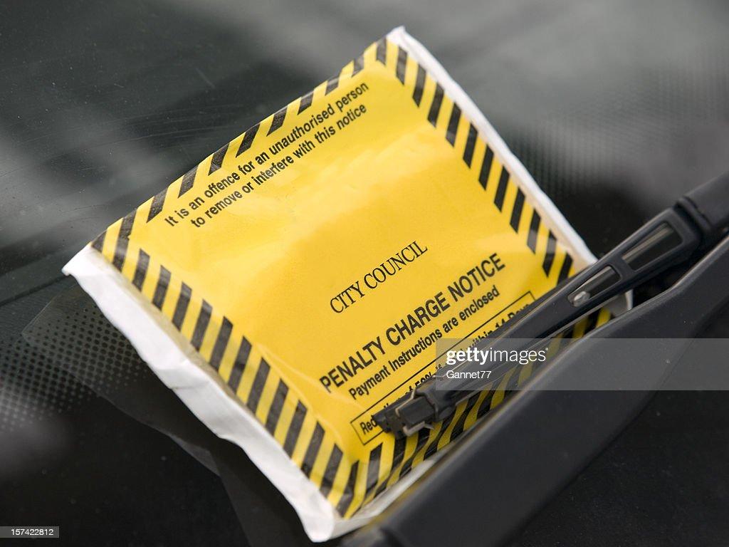 Parking Ticket on Windshield : Stock Photo