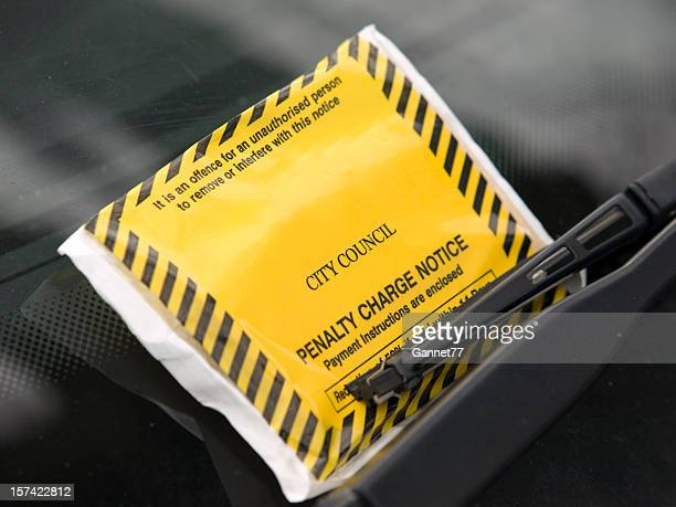 Parking Ticket on Windshield