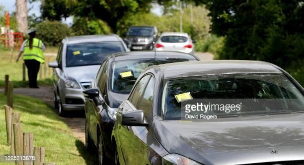 Parking tickets on several parked cars near Sywell Country Park on May 16, 2020 in Northampton, United Kingdom. The prime minister announced the...