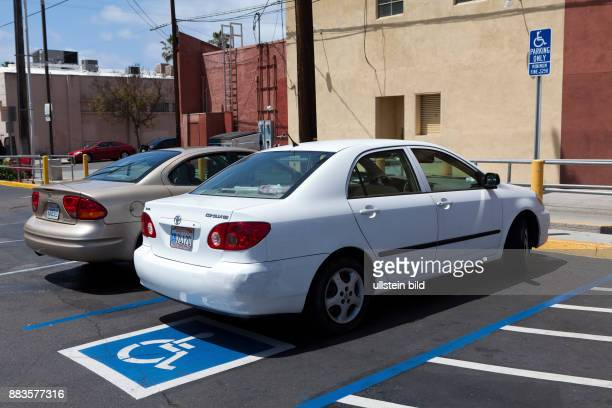 Parking with reserved spots for the disabled at Trader Joe's in California