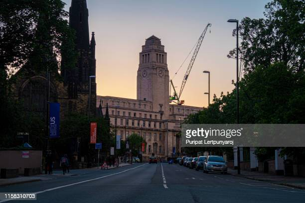 parkinson building in the university of leeds, leeds, united kingdom - leeds city centre stock photos and pictures