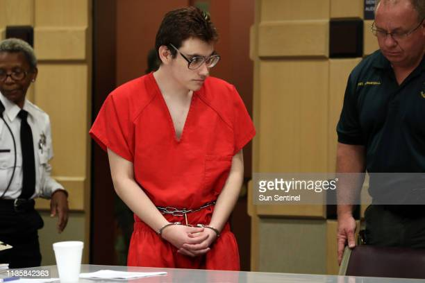 Parkland school shooter Nikolas Cruz enters the courtroom for a hearing at the Broward Courthouse in Fort Lauderdale on Friday April 5 2019