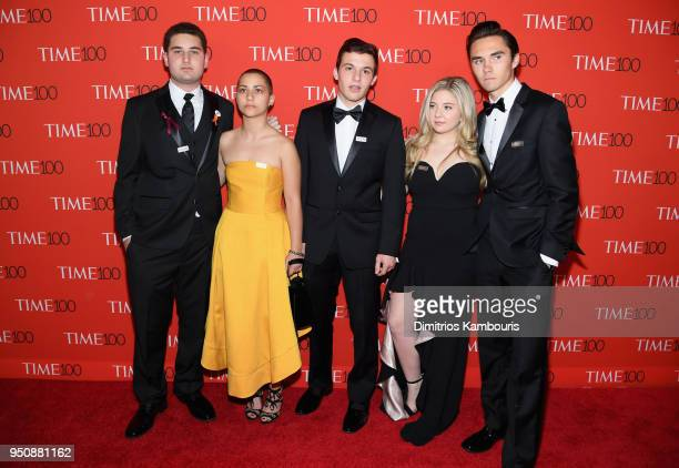 Parkland student activists attend the 2018 Time 100 Gala at Jazz at Lincoln Center on April 24 2018 in New York City