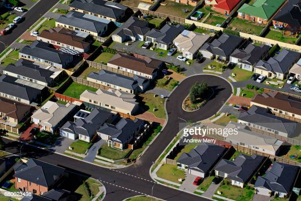 parklea, north-west sydney, aerial photography - cul de sac stock pictures, royalty-free photos & images